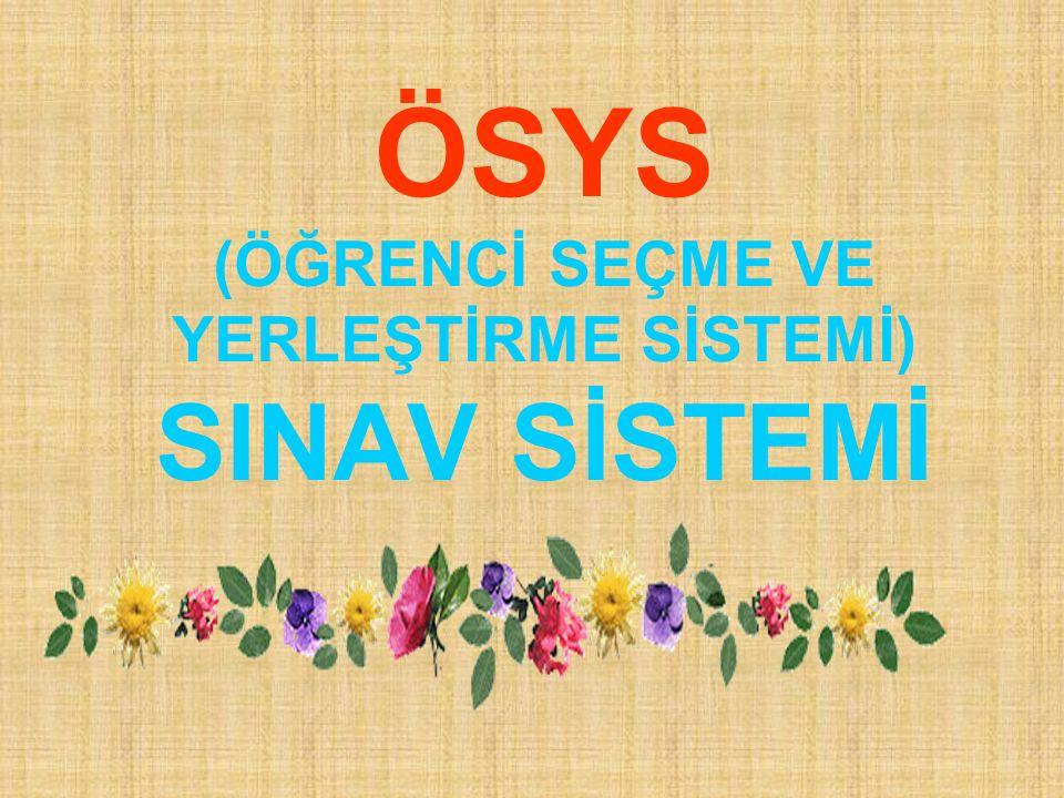 TS GRUBU PUAN TÜRLERİ Puan Türü TESTLERİN AĞIRLIKLARI (%) YGSLYS-3LYS-4 TÜRKÇE T.Mat.Sos.