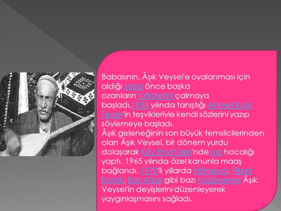 Şarkışla da her yıl adına şenlikler yapılır.Eserlerinde Türkçe si yalındır.