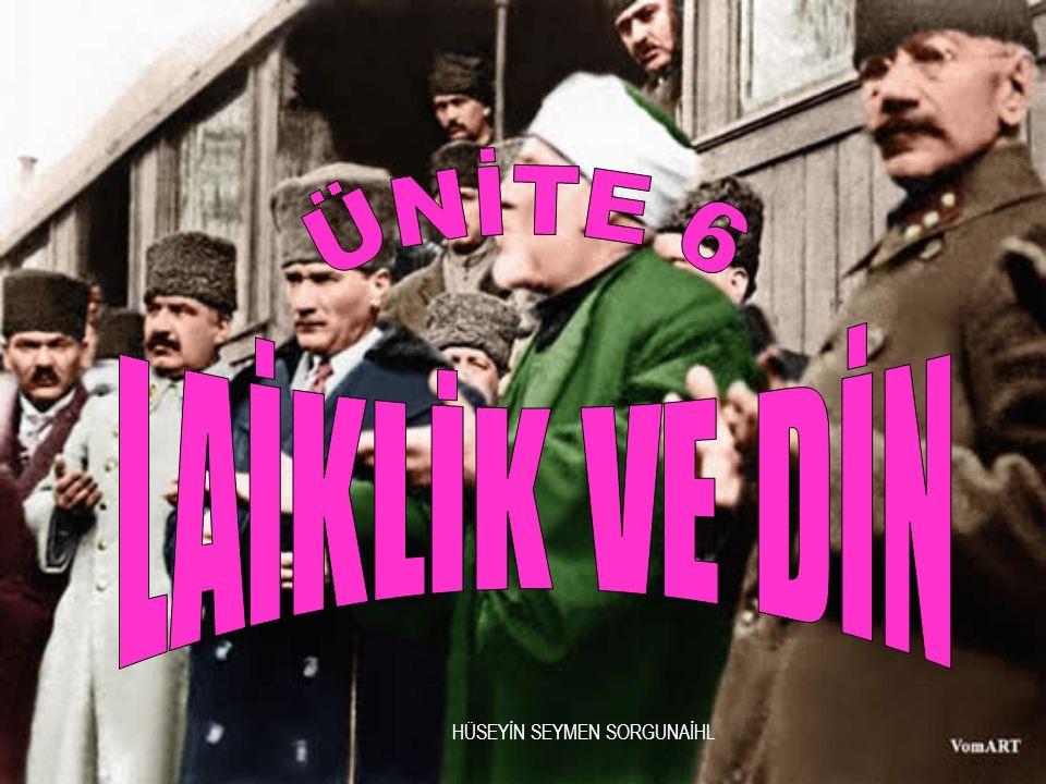 Din lüzumlu bir müessesedir. ATATÜRK DİYOR Kİ Atatürk ün laiklik anlayışı dine kesinlikle karşı değildir.
