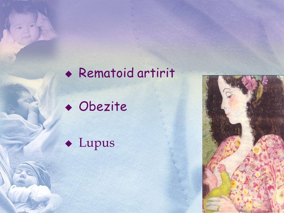  Rematoid artirit  Obezite  Lupus