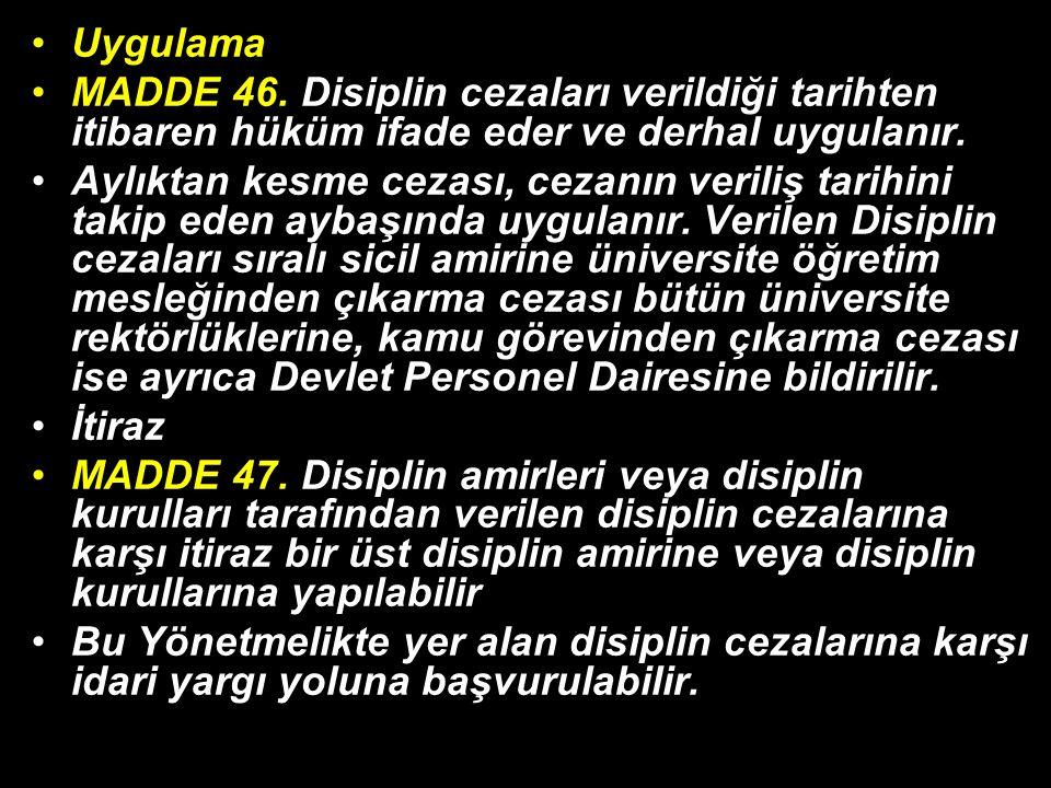 Uygulama MADDE 46.