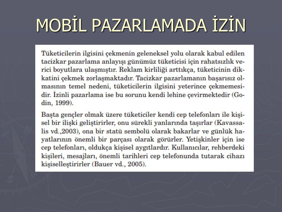 MOBİL PAZARLAMADA İZİN