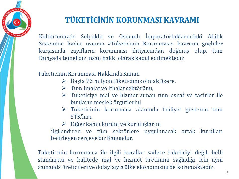 3 TÜKETİCİNİN KORUNMASI KAVRAMI Kültürümüzde Selçuklu ve Osmanlı İmparatorluklarındaki Ahilik Sistemine kadar uzanan «Tüketicinin Korunması» kavramı g