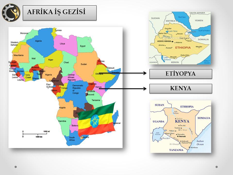 AFRİKA İŞ GEZİSİ Çerkezköy Ticaret ve Sanayi Odası, üyelerinin ihracat potansiyelini geliştirme amacıyla düzenlediği iş gezilerine, sahip olduğu imkanlar sebebiyle dünyada önemli pazar haline gelen Etiyopya ve Kenya'da devam etti.