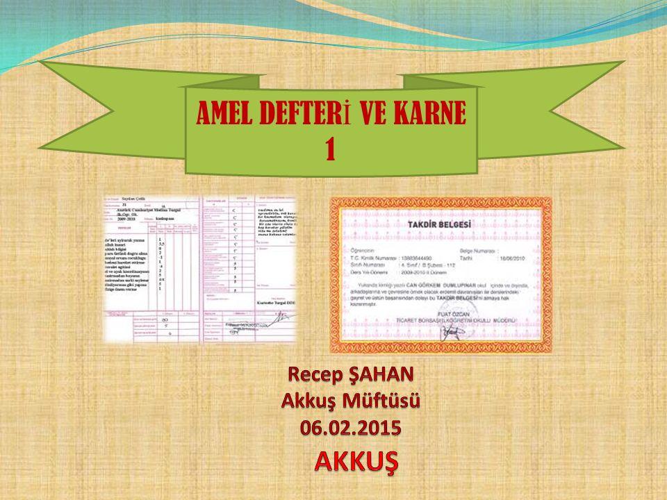 Akkuş Müftülüğü SUNDU NOT: Bu vaaz Vehbi AKŞİT tarafından hazırlanmış olup Recep ŞAHAN tarafından bazı düzenlemeler yapılarak istifadeye sunulmuştur.
