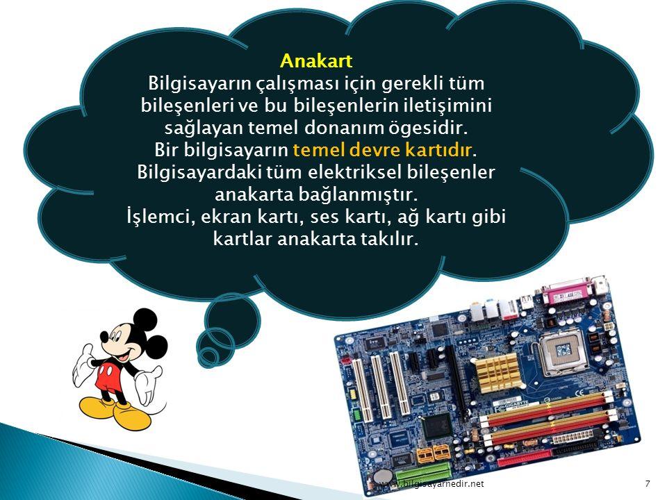 Ekran (Monitör) Monitör (veya ekran) bilgisayarın içinde bulunan bilgileri gözün görebileceği şekilde görüntüye dönüştüren cihazdır.