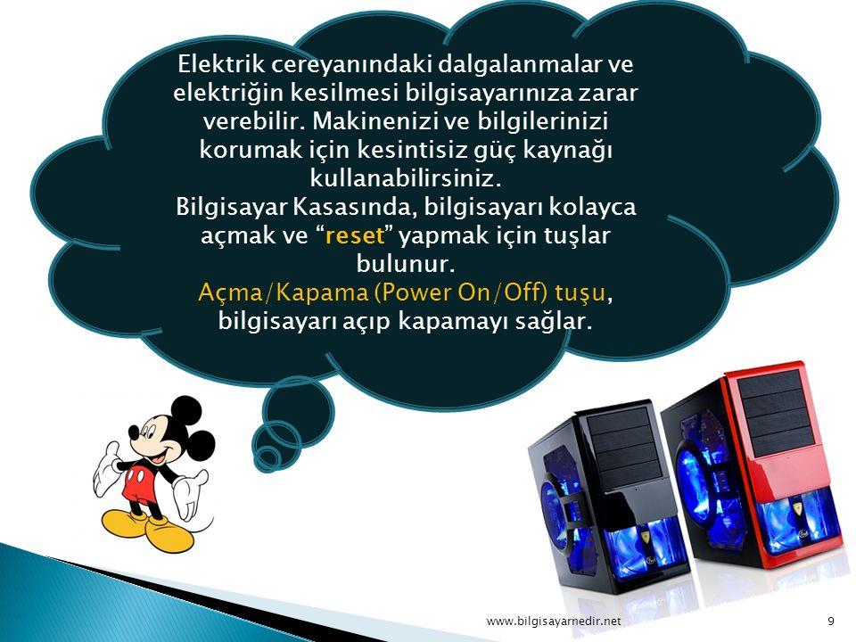 Bilgisayar Kasasının arkasındaki Portlar : Seri portlara fare(mouse), modem, tarayıcı(scanner) bazen de yazıcı bağlanır.