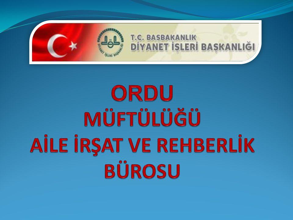 ARZ EDERİM. Mustafa KOLUKISAOĞLU Ordu İl Müftüsü