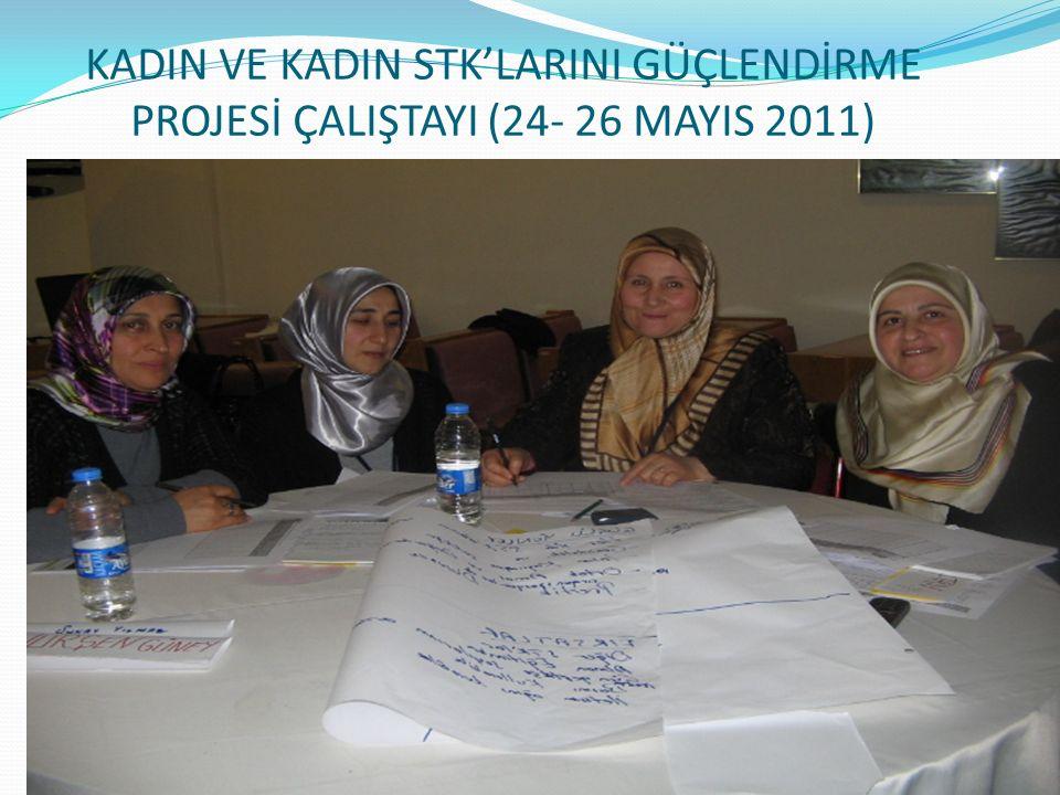 KADIN VE KADIN STK'LARINI GÜÇLENDİRME PROJESİ ÇALIŞTAYI (24- 26 MAYIS 2011)