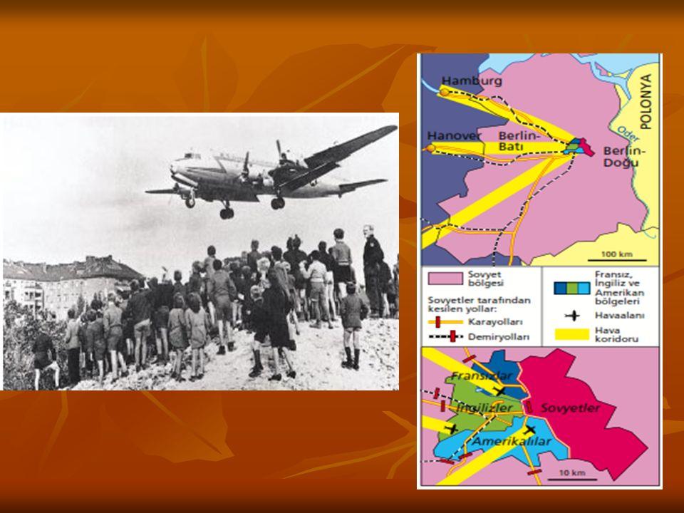 Savaş sonrası dört bölgeye ayrılan Almanya'da iki ayrı devlet ortaya çıktı. Batılıların kurduğu Federal Almanya, Sovyetler Birliği'nin oluşturduğu Dem