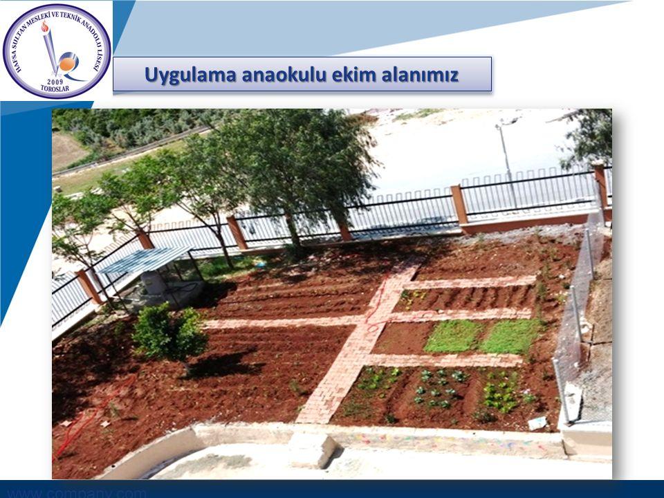 www.company.com Uygulama anaokulu ekim alanımız