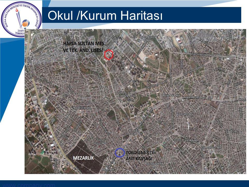 www.company.com Okul /Kurum Haritası