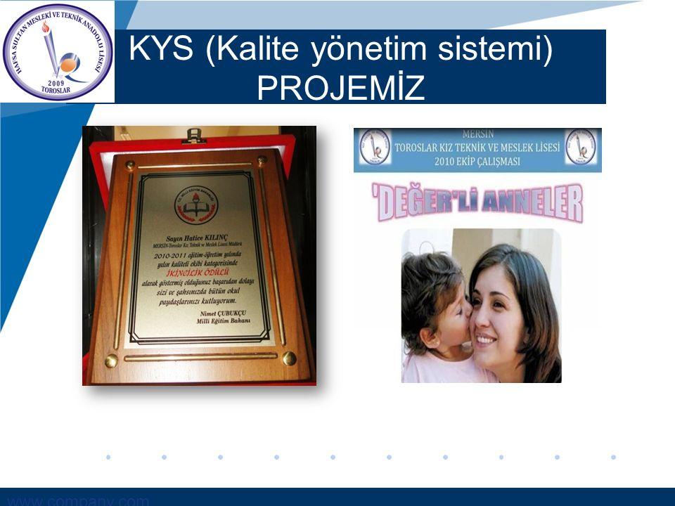 www.company.com KYS (Kalite yönetim sistemi) PROJEMİZ
