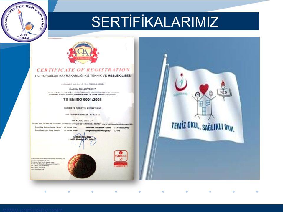 www.company.com SERTİFİKALARIMIZ