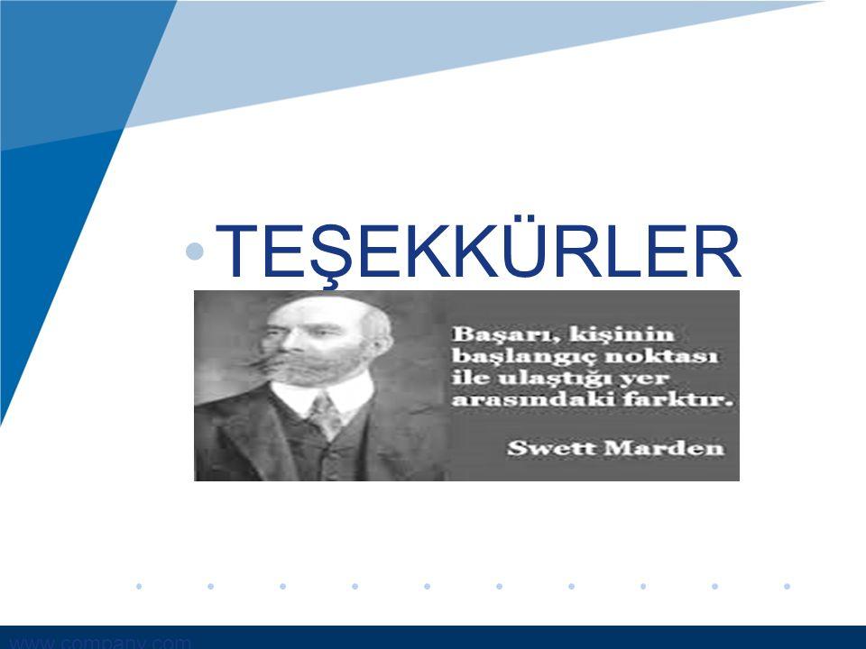 www.company.com TEŞEKKÜRLER