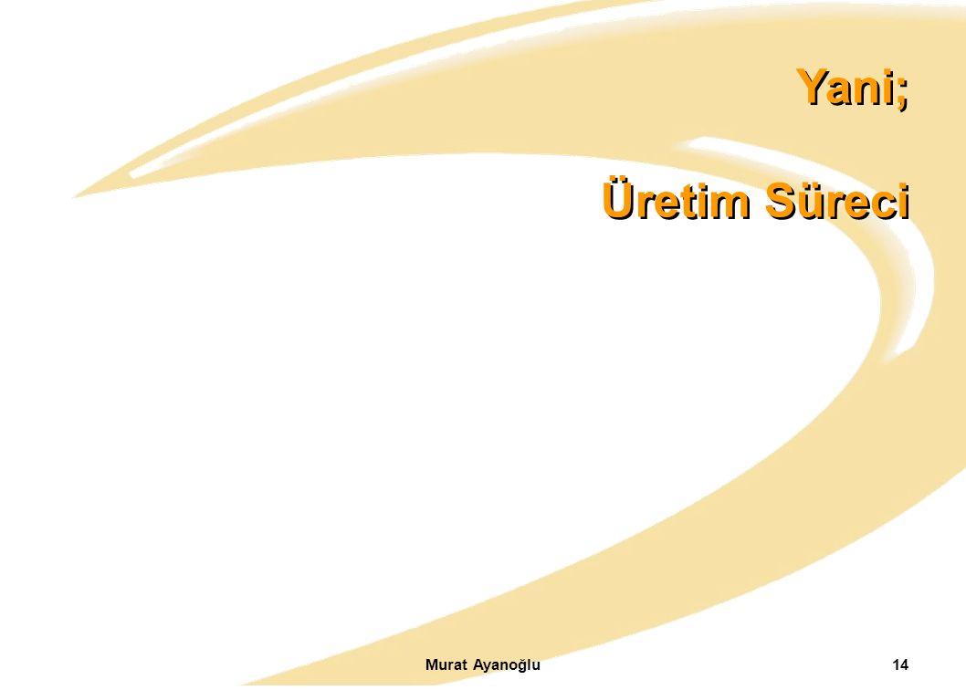 Yani; Üretim Süreci Murat Ayanoğlu14