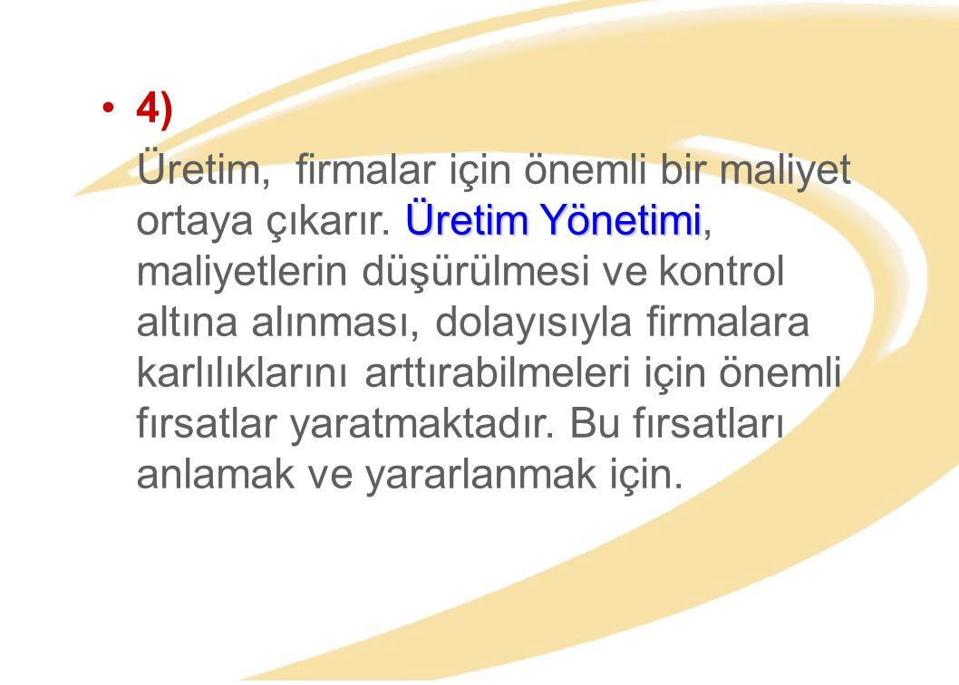 Murat Ayanoğlu30 ÜRETİM YÖNETİMİ GÖREVLERİ GİRDİ İŞLEMÇIKTI ÜRETİM SÜRECİ Planlama Organizasyon Yürütme Kontrol
