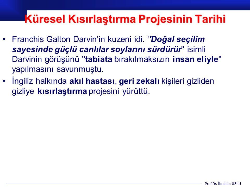 Prof.Dr.İbrahim USLU GDO dünyada yaygın olarak balıklarda ve tavuklarda kullanılıyor.