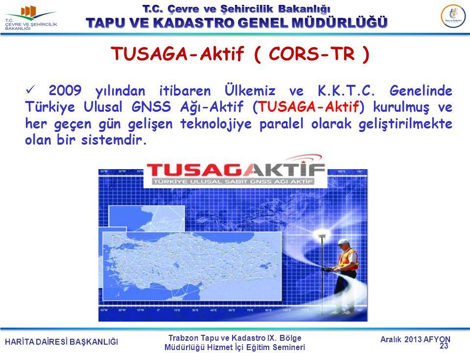 HARİTA DAİRESİ BAŞKANLIĞI Trabzon Tapu ve Kadastro IX. Bölge Müdürlüğü Hizmet İçi Eğitim Semineri Aralık 2013 AFYON 2009 yılından itibaren Ülkemiz ve