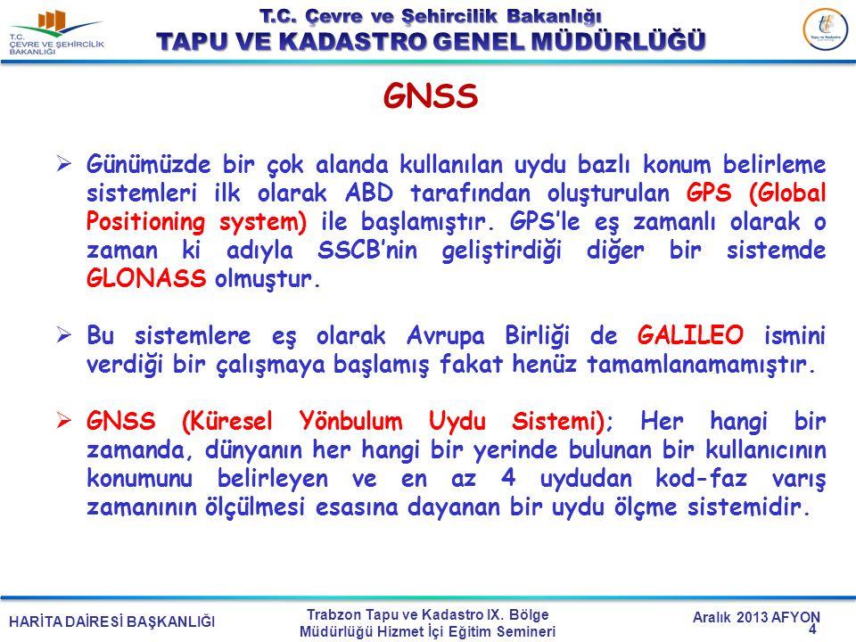 HARİTA DAİRESİ BAŞKANLIĞI Trabzon Tapu ve Kadastro IX. Bölge Müdürlüğü Hizmet İçi Eğitim Semineri Aralık 2013 AFYON 4  Günümüzde bir çok alanda kulla