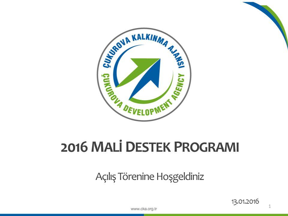 Proje Teklif Çağrısı İlanı (13 Ocak 2016) Bilgilendirme Toplantıları (21 - 28 Ocak 2016) Proje Hazırlama Eğitimleri (1 – 16 Şubat 2016) Son Başvuru Tarihi Elektronik Başvuru: 8 Nisan 2016 / Saat: 17:00 Evrakların Teslimi: 15 Nisan 2016 / Saat:17:00 Ön İnceleme AşamasıBağımsız Değerlendirici AşamasıDeğerlendirme Komitesi AşamasıGenel Sekreter İncelemesiYönetim Kurulu Onayı Değerlendirme Sonuçlarının İlanı (15 Temmuz 2016) Sözleşmelerin İmzalanmasıİzleme ve Değerlendirme 12