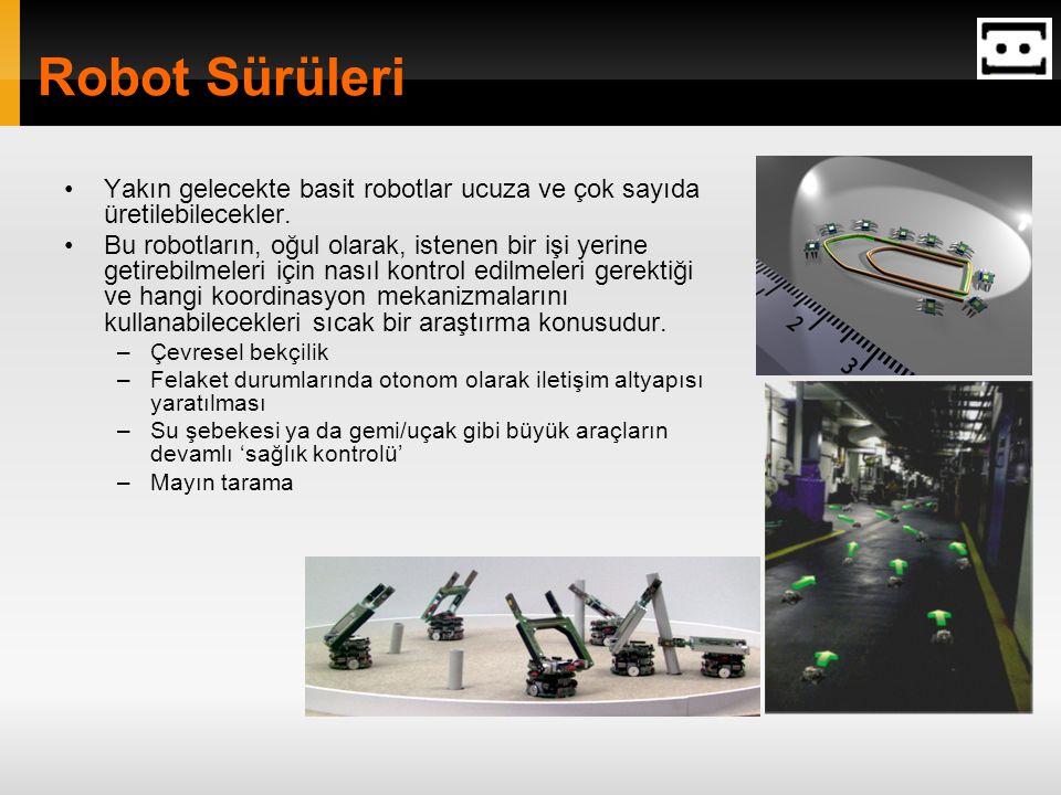 Robot Sürüleri Yakın gelecekte basit robotlar ucuza ve çok sayıda üretilebilecekler.