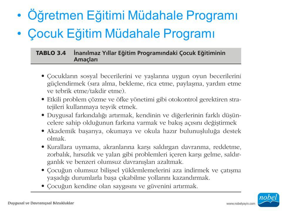 Öğretmen Eğitimi Müdahale Programı Çocuk Eğitim Müdahale Programı