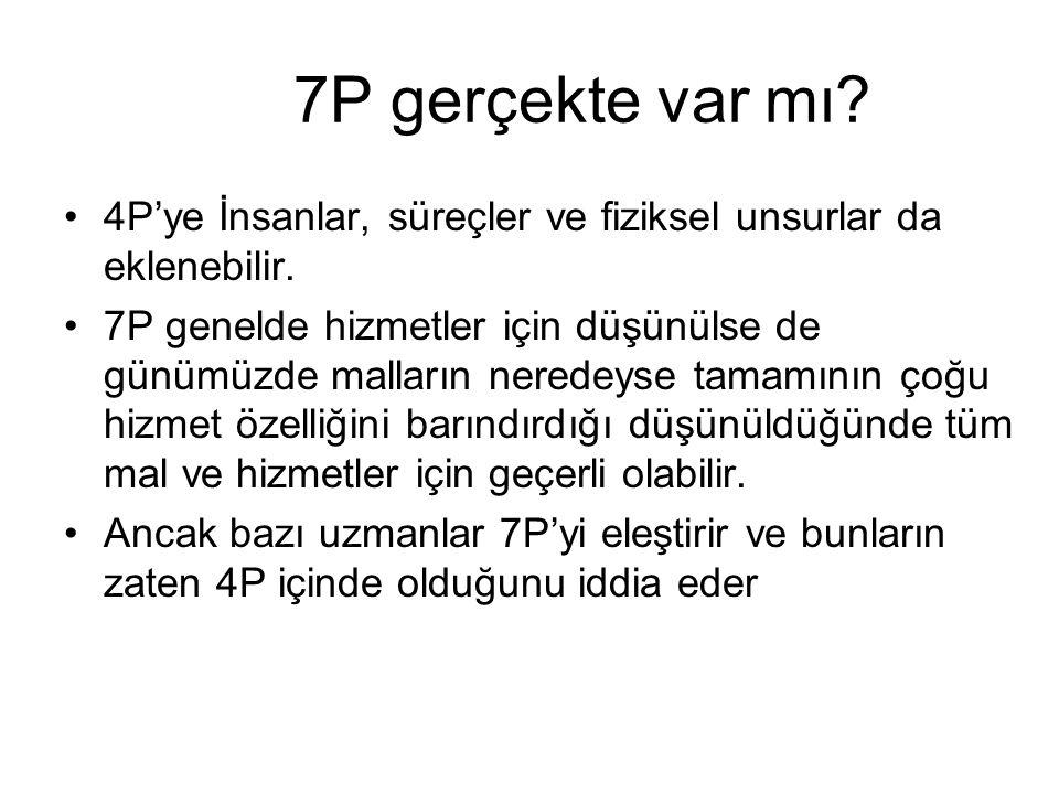7P gerçekte var mı.4P'ye İnsanlar, süreçler ve fiziksel unsurlar da eklenebilir.
