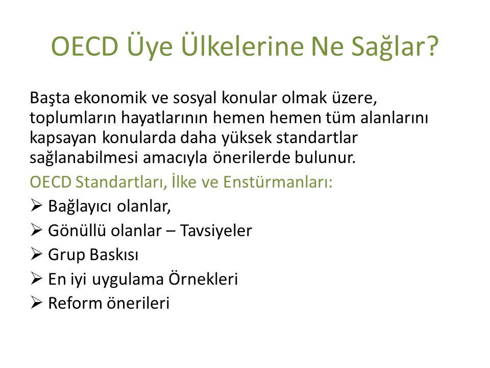 OECD Üye Ülkelerine Ne Sağlar.