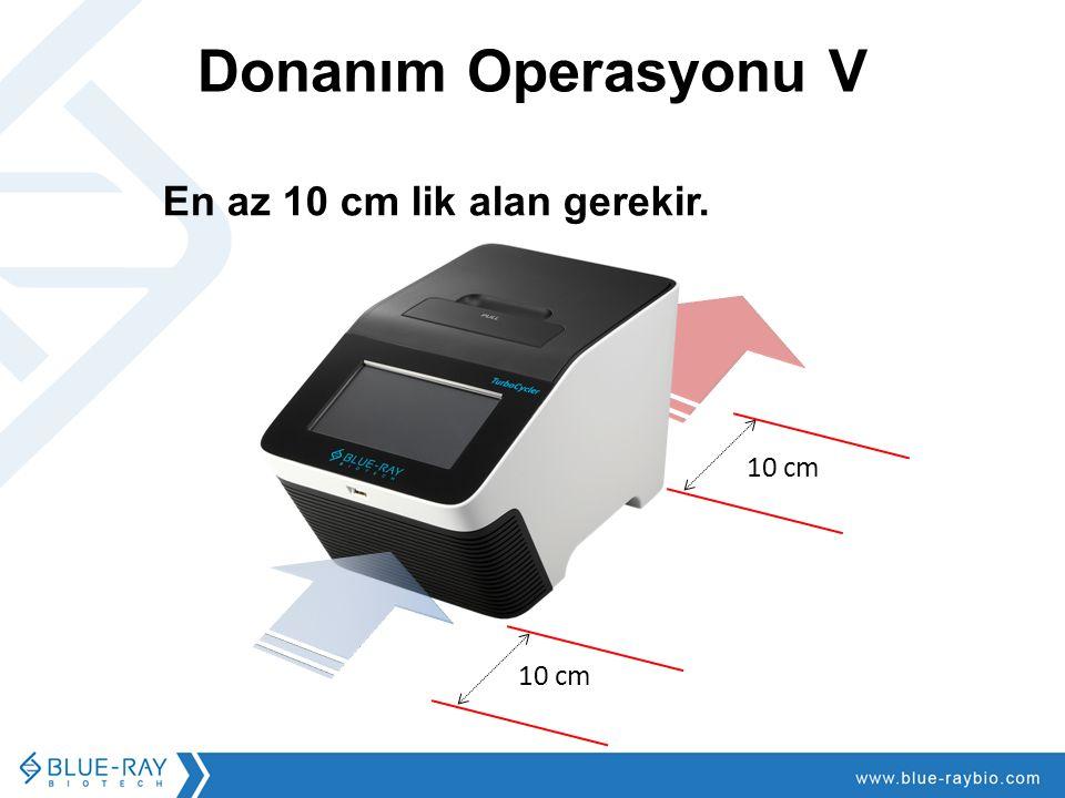 Donanım Operasyonu V 10 cm En az 10 cm lik alan gerekir.