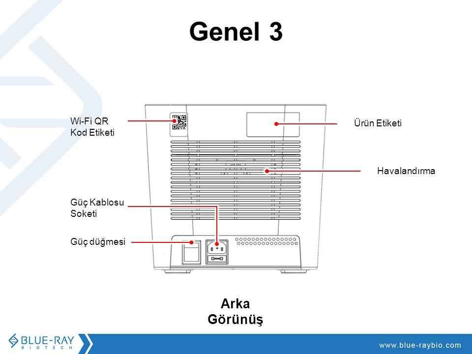 Genel 3 Ürün Etiketi Havalandırma Wi-Fi QR Kod Etiketi Güç düğmesi Arka Görünüş