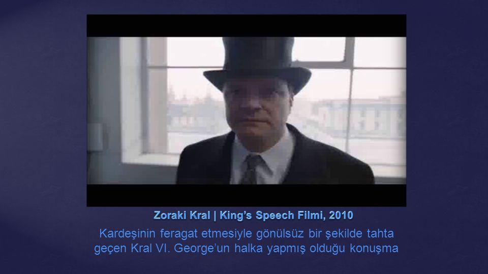 Kardeşinin feragat etmesiyle gönülsüz bir şekilde tahta geçen Kral VI. George'un halka yapmış olduğu konuşma
