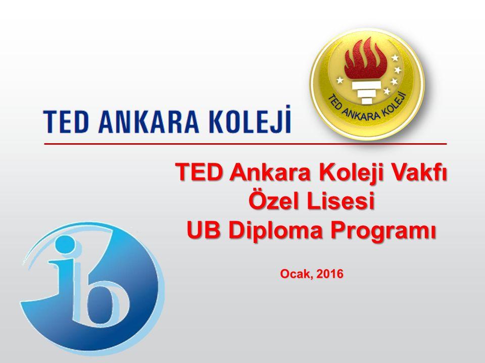 TED Ankara Koleji Vakfı Özel Lisesi UB Diploma Programı