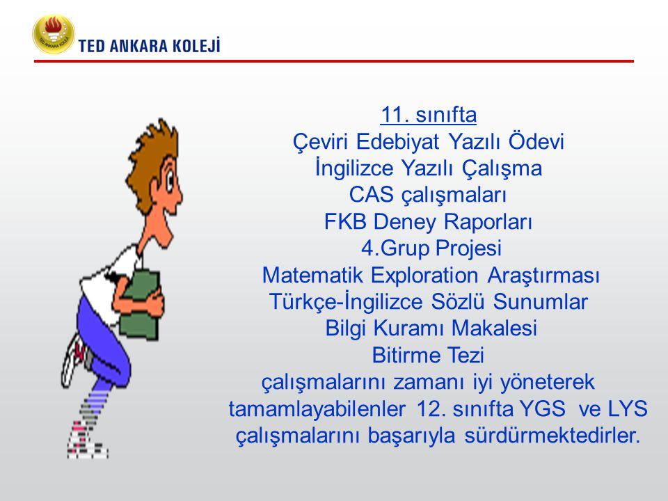 11. sınıfta Çeviri Edebiyat Yazılı Ödevi İngilizce Yazılı Çalışma CAS çalışmaları FKB Deney Raporları 4.Grup Projesi Matematik Exploration Araştırması