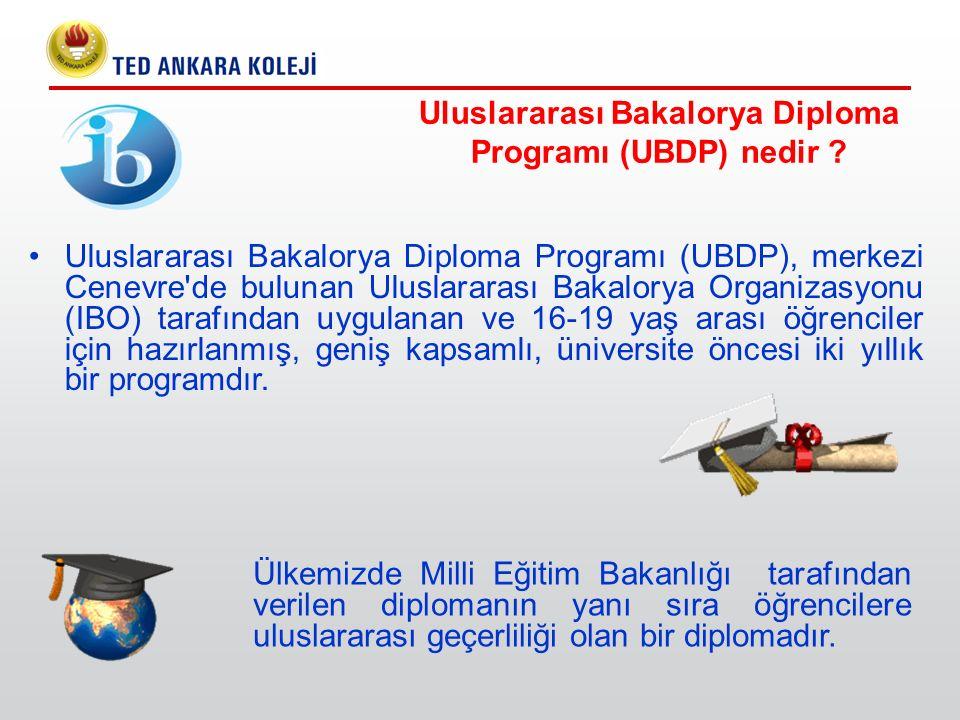 Uluslararası Bakalorya Diploma Programı (UBDP) nedir ? Uluslararası Bakalorya Diploma Programı (UBDP), merkezi Cenevre'de bulunan Uluslararası Bakalor