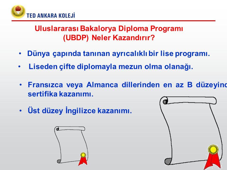 Uluslararası Bakalorya Diploma Programı (UBDP) Neler Kazandırır? Dünya çapında tanınan ayrıcalıklı bir lise programı. Liseden çifte diplomayla mezun o