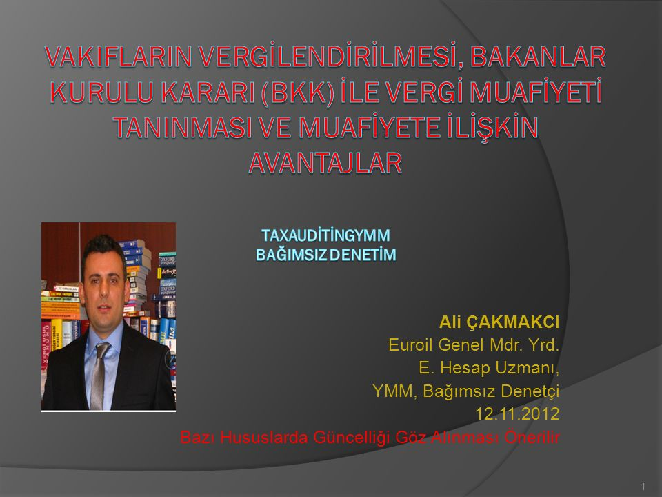 Ali ÇAKMAKCI Euroil Genel Mdr. Yrd. E.