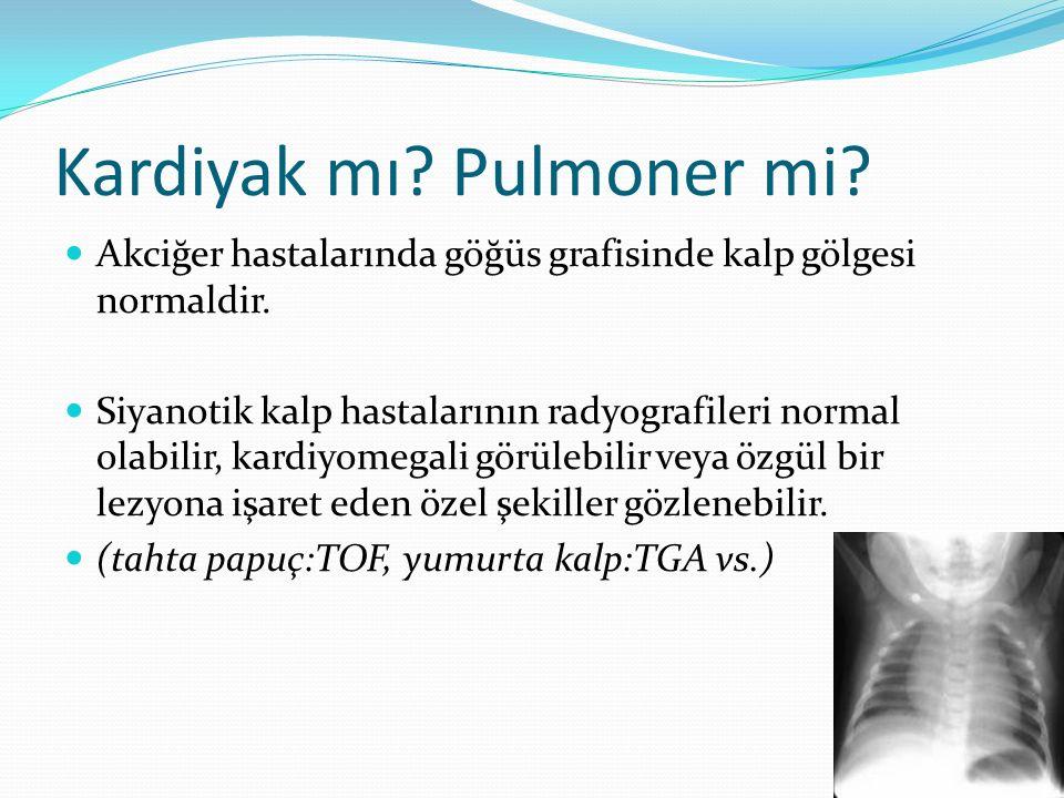 Kardiyak mı.Pulmoner mi. Akciğer hastalarında göğüs grafisinde kalp gölgesi normaldir.
