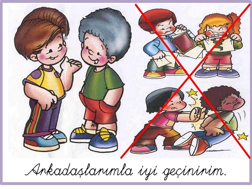 Okul Kuralları √ Okula zamanında gelmeliyiz.√ Bayrak törenlerine katılmalıyız.