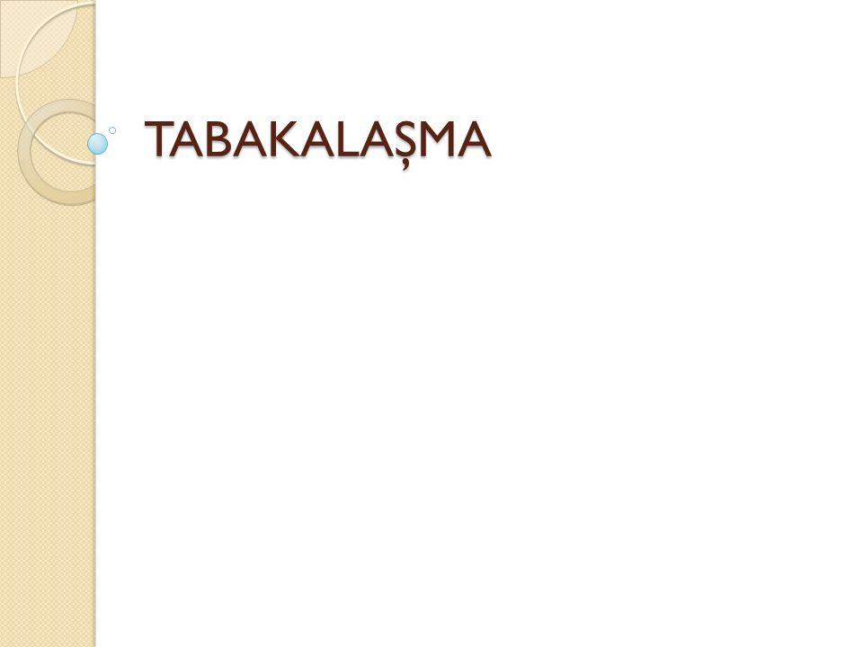 TABAKALAŞMA