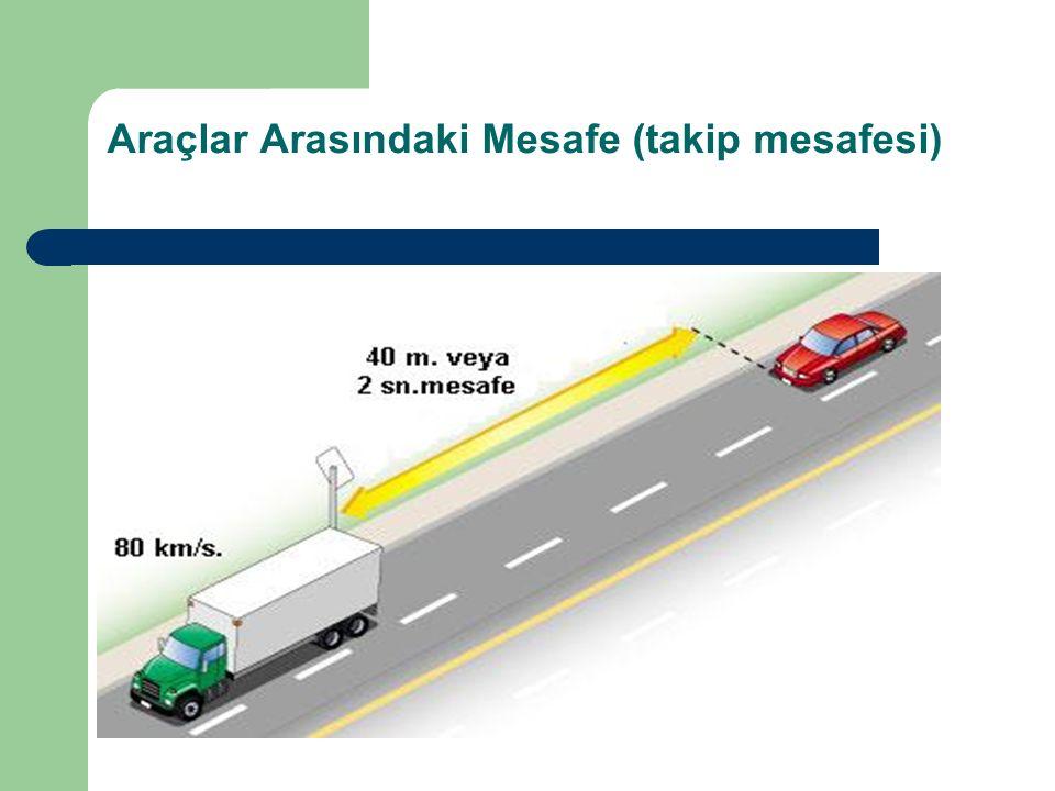 Araçlar Arasındaki Mesafe (takip mesafesi)