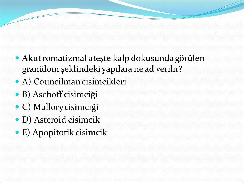 Aşağıdaki kalp hastalıklarının hangisinde enfektif endokardit profilaksisine gerek yoktur.