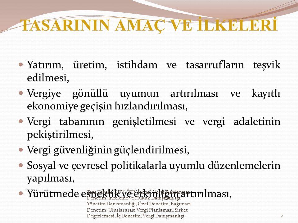 Türkiye de kesinti suretiyle vergilendirilmiş tahvil ve bono faizleri, mevduat faizleri, repo gelirleri ile Tasarının 62.