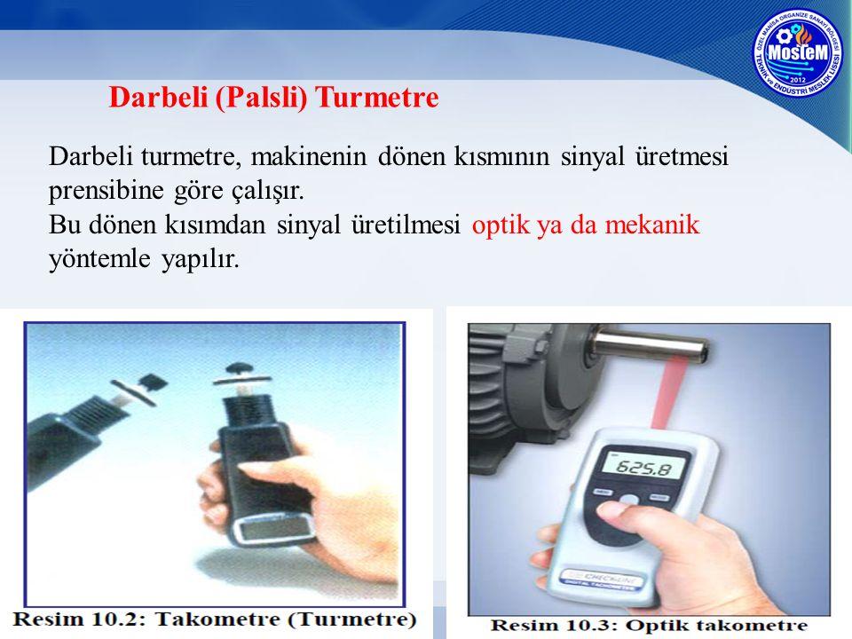 Darbeli (Palsli) Turmetre Darbeli turmetre, makinenin dönen kısmının sinyal üretmesi prensibine göre çalışır. Bu dönen kısımdan sinyal üretilmesi opti