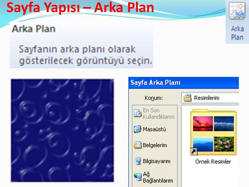 Sayfa Yapısı – Arka Plan