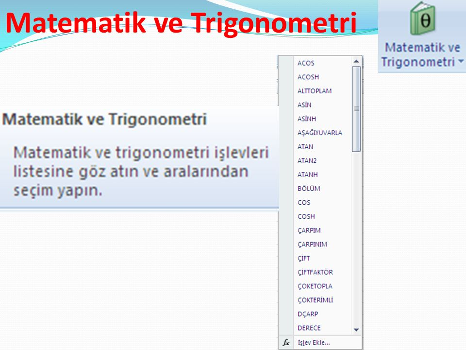 Matematik ve Trigonometri