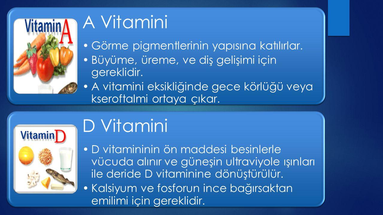 E Vitamini A vitamini için koruyucu etkiye sahiptir.