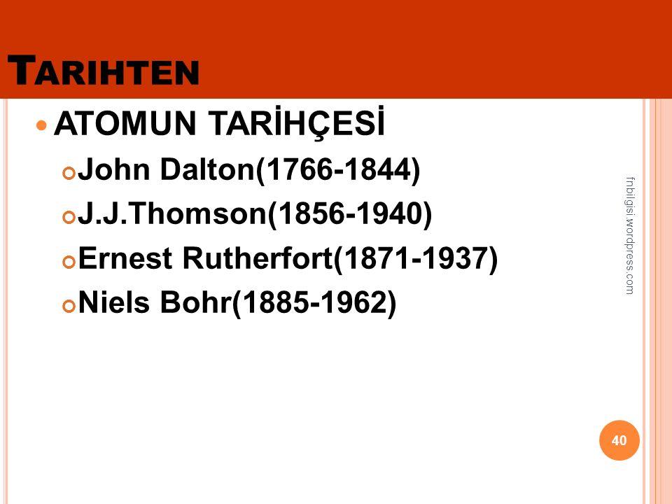 Dalton, atom hakkındaki düşüncelerini açıklamak için ilk atom modelleri olarak kullanmıştır.