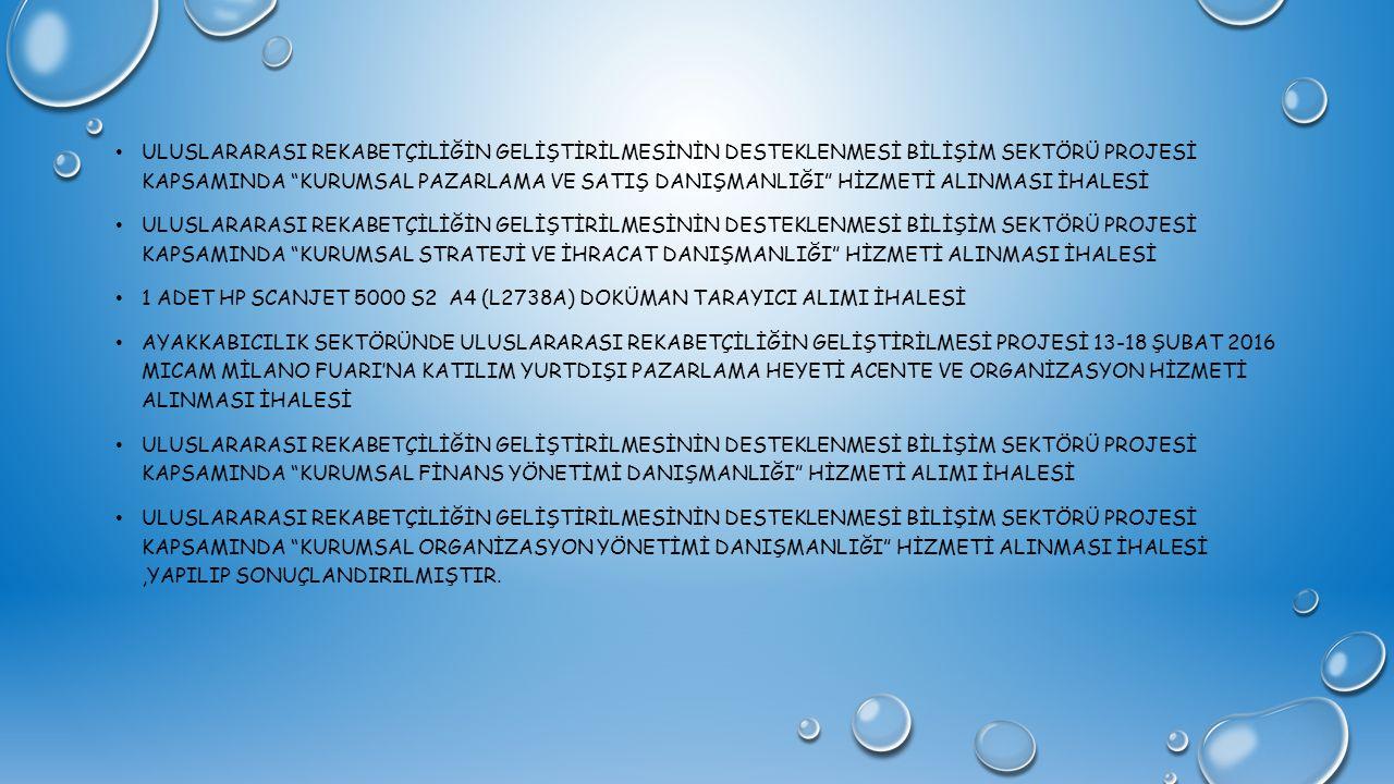 """ULUSLARARASI REKABETÇİLİĞİN GELİŞTİRİLMESİNİN DESTEKLENMESİ BİLİŞİM SEKTÖRÜ PROJESİ KAPSAMINDA """"KURUMSAL PAZARLAMA VE SATIŞ DANIŞMANLIĞI"""" HİZMETİ ALIN"""