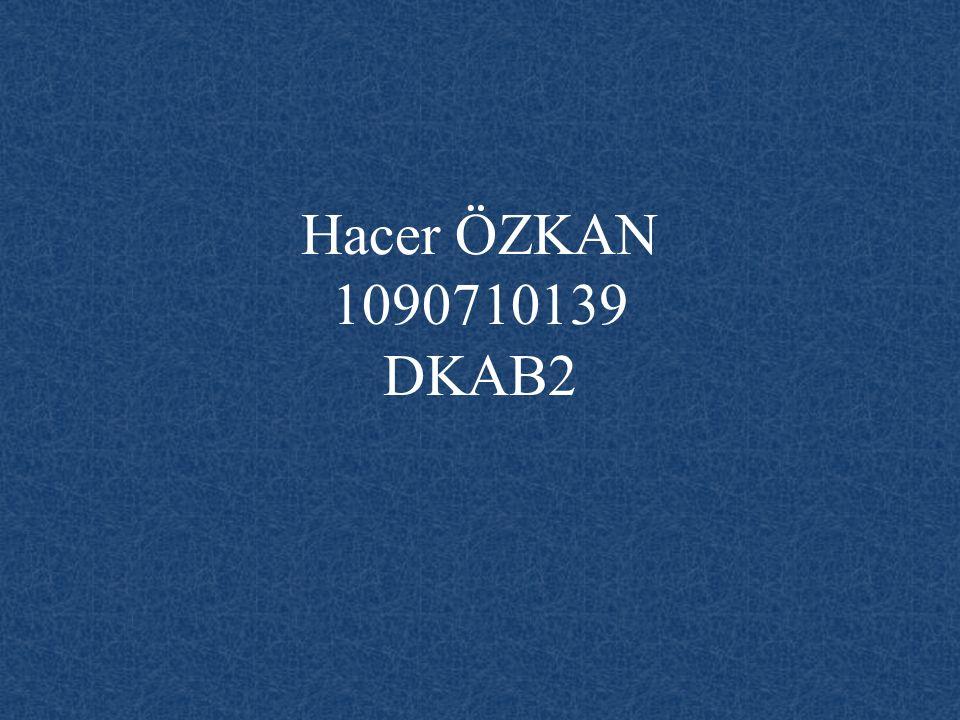 Hacer ÖZKAN 1090710139 DKAB2